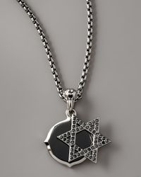 Stephen Webster Black Star Of David Double Pendant Necklace for men