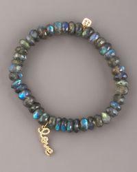 Sydney Evan | Green Labradorite & Pave Diamond Bracelet | Lyst