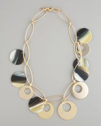 Tory Burch Black Gold & Resin Necklace