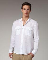 VINCE | Linen Shirt, White for Men | Lyst