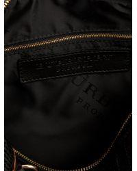 Burberry Prorsum Black Woven Tote Bag