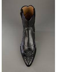 Cesare Paciotti Black Crystal Stud Boot for men