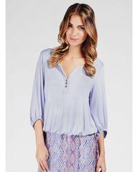 Ella Moss | Purple Girls Best Friend 3/4 Sleeve Top | Lyst