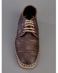 Giorgio Armani Brown Crocodile Skin Espadrille for men