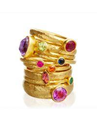 Gurhan - Metallic Round Diamond Ring - Lyst