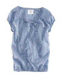 H&M | Blue Short T-shirt | Lyst
