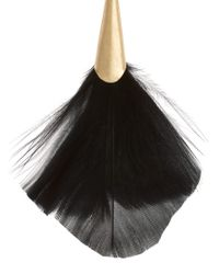Oasis | Black Oasis Fan Feather Drop Earrings | Lyst