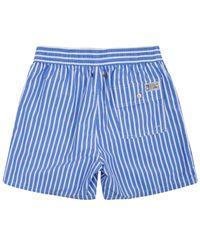 Polo Ralph Lauren Blue Stripe Swim Shorts for men
