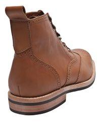 Rachel Comey Brown Jenks Brogue Boot for men
