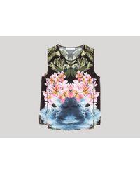 Stella McCartney - Multicolor Multicolour Spaced Hawaiian Print Top - Lyst
