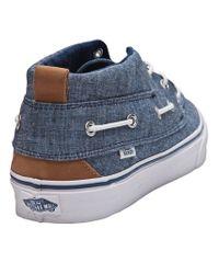 Vans Blue Chukka Del Barco Shoe for men