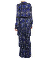 A.L.C. | Blue Izzie Printed Silk Blouse | Lyst