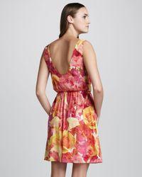 Alice + Olivia Pink Floral Print Dress