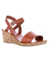 A.P.C. Brown Low Wedge Sandal