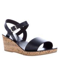 A.P.C. Blue Low Wedge Sandal