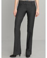 Banana Republic Sloan Fit Black Mini Tweed Flare