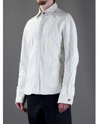 Incarnation White Leather Shirt for men