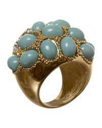Jane Norman | Blue Turquoise Stone Cocktail Ring | Lyst