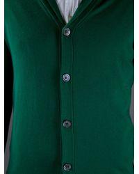 Jil Sander Green Shawl Collar Cardigan for men