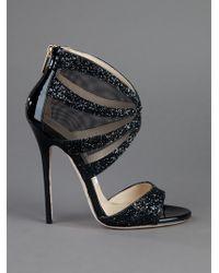 Jimmy Choo Black Leila Sandal