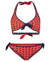 Marc By Marc Jacobs Red Reversible Twopiece Swimsuit