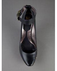 McQ Black Studded Wedge Shoe