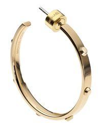 Michael Kors | Metallic Astor Medium Stud Hoop Earrings Golden | Lyst