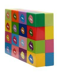 Nada Sawaya Multicolor Kiss Handpainted Resin Minaudière