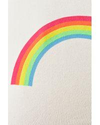 Nasty Gal Natural Rainbow Crop Tee