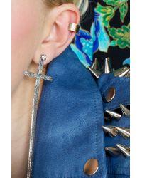 Nasty Gal - Brown Pierced Ear Cuff - Lyst