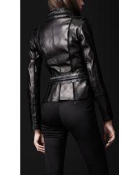 Burberry Prorsum Black Brogue Leather Jacket