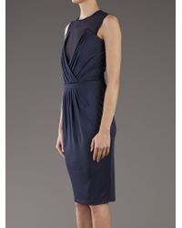 Givenchy Blue Pleated Dress