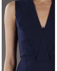 Givenchy Blue Sleeveless Sheath Dress