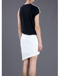 Helmut Lang Black Tex Panel Dress
