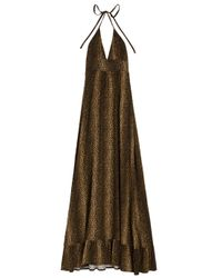 Melissa Odabash | Black Barrie Cheetah-print Jersey Maxi Dress | Lyst