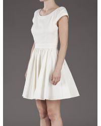 Rachel Zoe White Lydia Full Skirt Dress