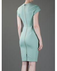 Roland Mouret Green Ezra Dress