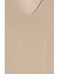 T By Alexander Wang Natural Jersey Maxi Dress
