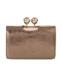 Ted Baker Metallic Small Crystal Flapover Purse