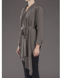 Unconditional Gray Draped Wrap Cardigan