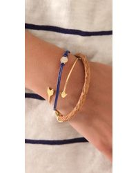 Gorjana - Blue Pantheon Leather Bracelet - Lyst