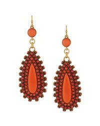 Jessica Simpson | Orange South Pacific Coral Teardrop Earrings | Lyst