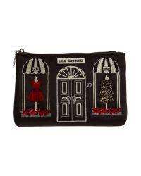 Lulu Guinness Black Couture Shop Top Zip