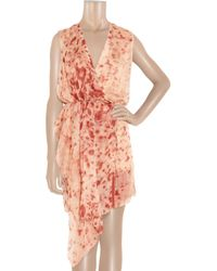 Reed Krakoff - Orange Appaloosa Printed Silk Crepe De Chine Dress - Lyst