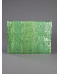 Angel Jackson Green Foldover Clutch