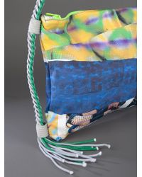 Bernhard Willhelm Blue Snake Print Shoulder Bag
