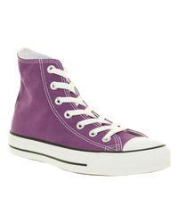 Converse All Star Hi Laker Purple Canvas for men