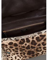 Dolce & Gabbana Brown Animal Print Bag