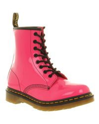 Dr. Martens | Pink 8 Eyelet Lace Up Boot | Lyst