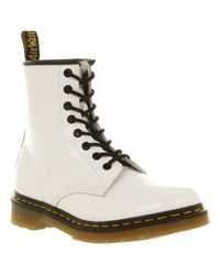 Dr. Martens - White Modern Classics 8eye Patent Boot - Lyst